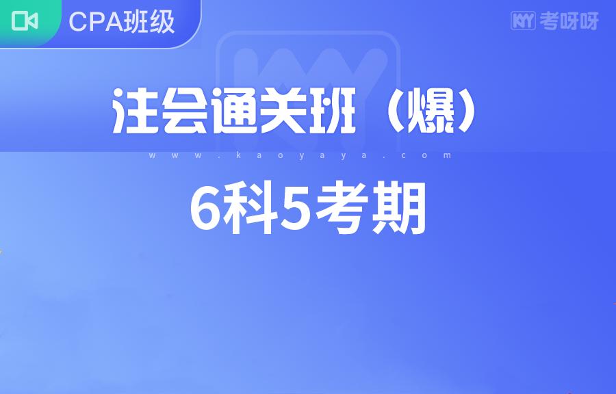 注会通关班(三年)+官方教材